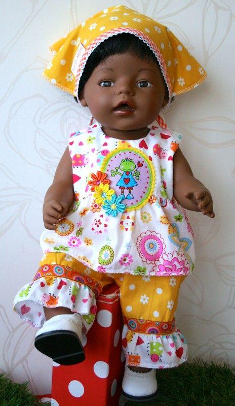 Hello Sunshine setje! | *POPPENKLEDING* voor ca. 43cm (o.a. BabyBorn) | Astrids Atelier Poppenkleding