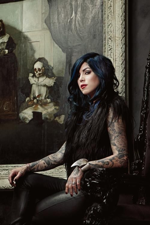 Miss Von D (Katherine von Drachenberg (born March 8, 1982), Mexican-American tattoo artist, model and television personality