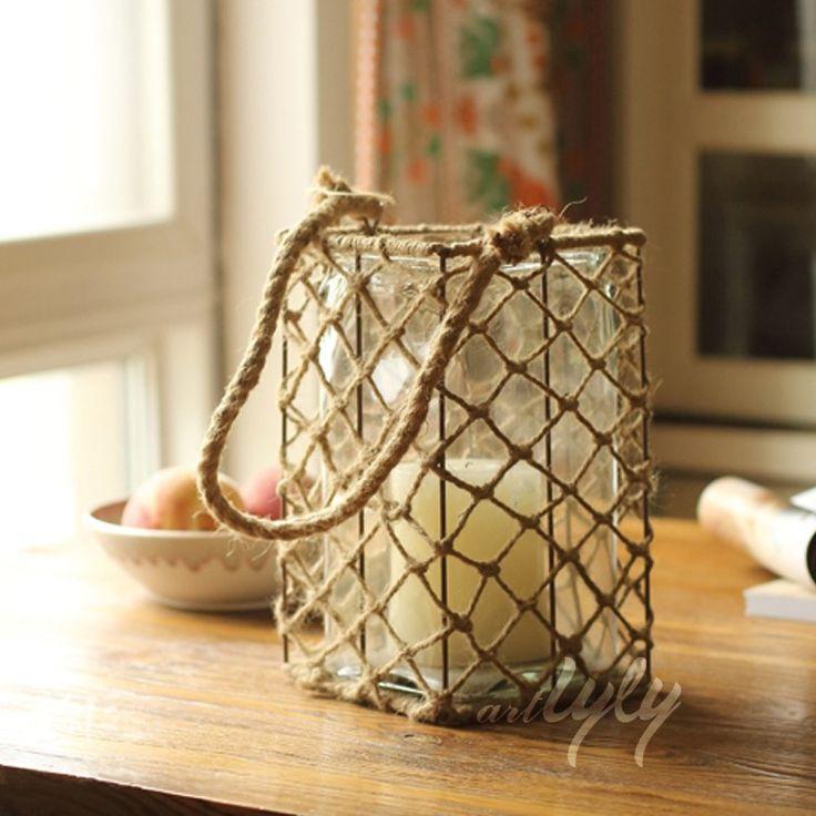 vintage natural glass candle holder for home decoration wholesale