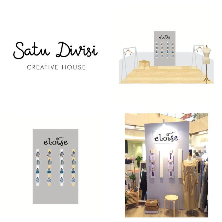 Simplicity-minimalism-Clean look- booth design for eloise to wear #satudivisibooth #boothdesign