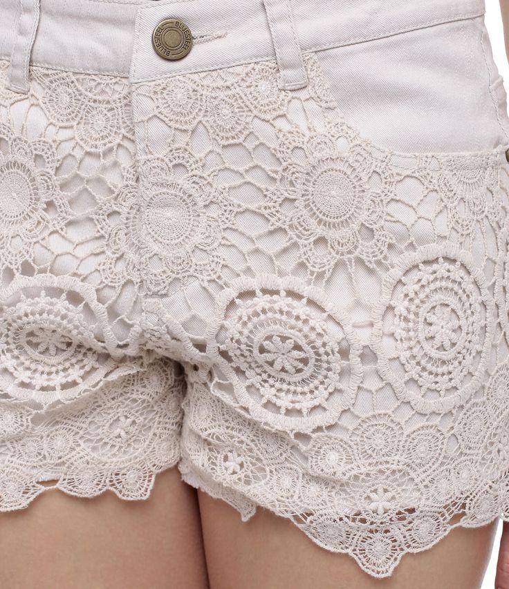 Short Feminino em Jeans com Renda - Lojas Renner