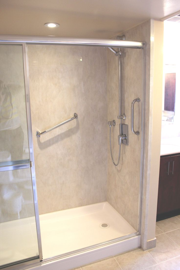 Tub to shower conversion with an acrylic wall liner so for Tub wall liners