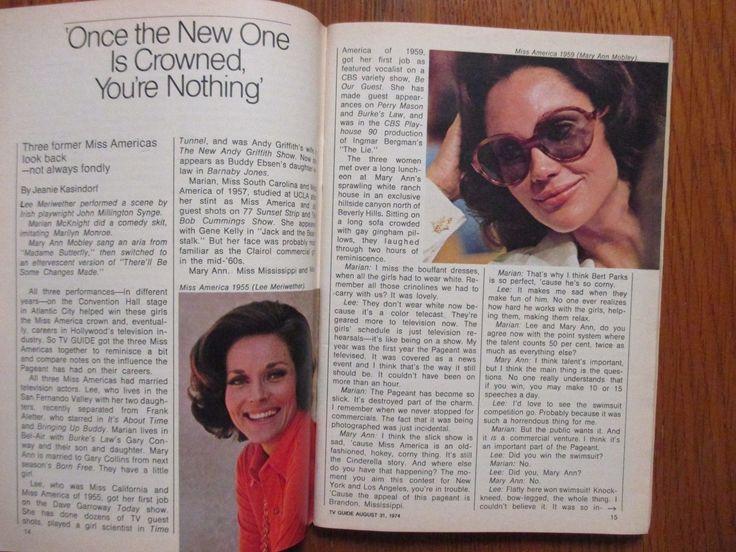 31 de Agosto 1974 Guía de TV Mary Ann Mobley TV Savalas Evel Knievel Maureen Reagan | eBay