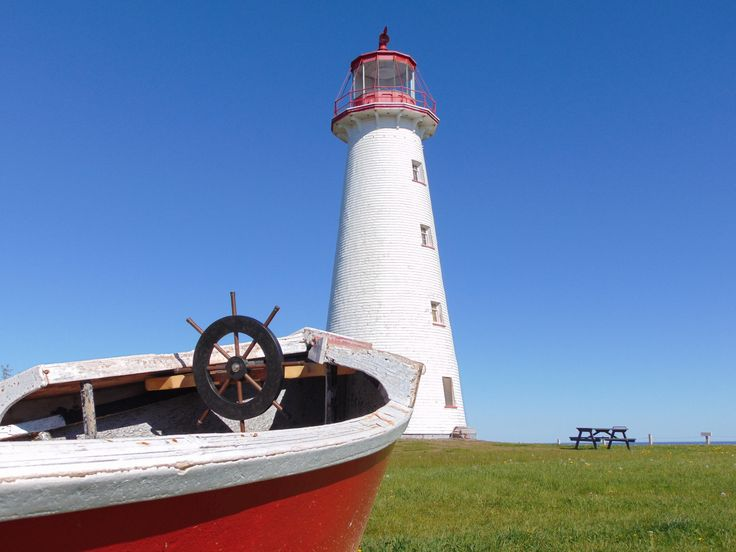 One of the many lighthouses of PEI.  This one is Point Prim, in eastern PEI.
