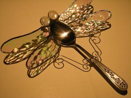 Dragonfly from a spoon