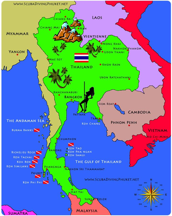 Google Map Of Thailand Islands