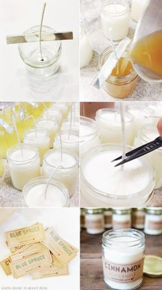 This tutorial not only shows you how to make soy candles (for beginners) but it also provides you with free printable labels. The labels are rustic and labeled by scent but they are generic enough …