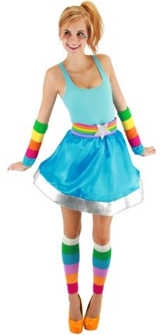 cuute Rainbow Bright costume....Lol @ Diana Reale Faretty....look a grown up rainbow bright!
