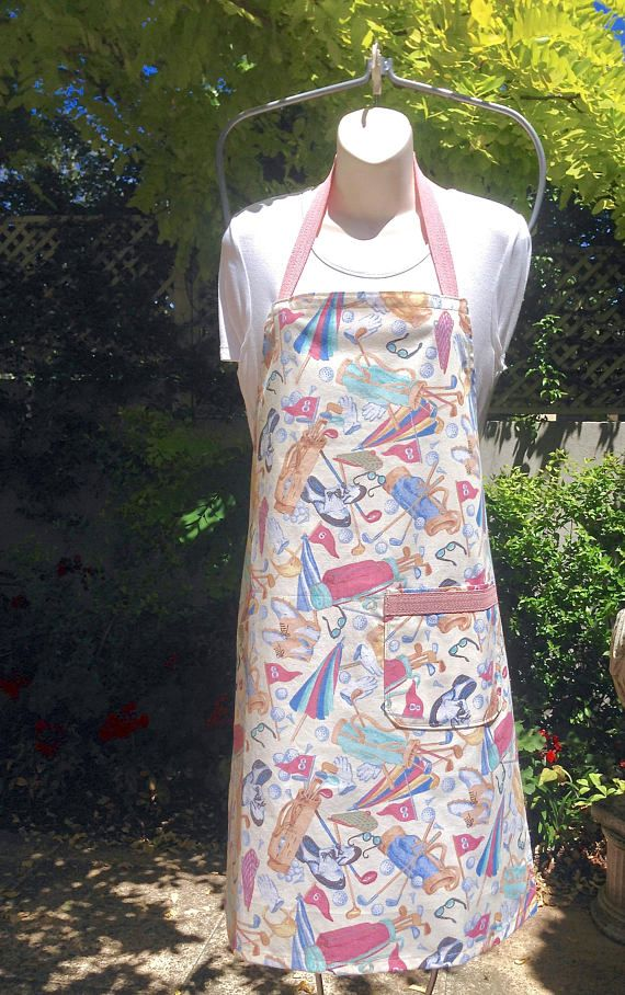 Golf Bib Apron Handmade Womens Full Length Medium to Large