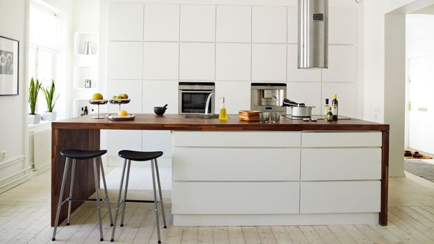 Links to current trends & ideas: *separate food prep area (island) *integrated appliances *draws instead of cupboard doors *good lighting over most used areas