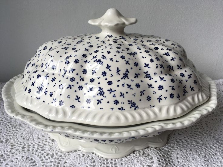 A personal favourite from my Etsy shop https://www.etsy.com/uk/listing/520122497/vintage-adams-sprig-blue-soup-tureen
