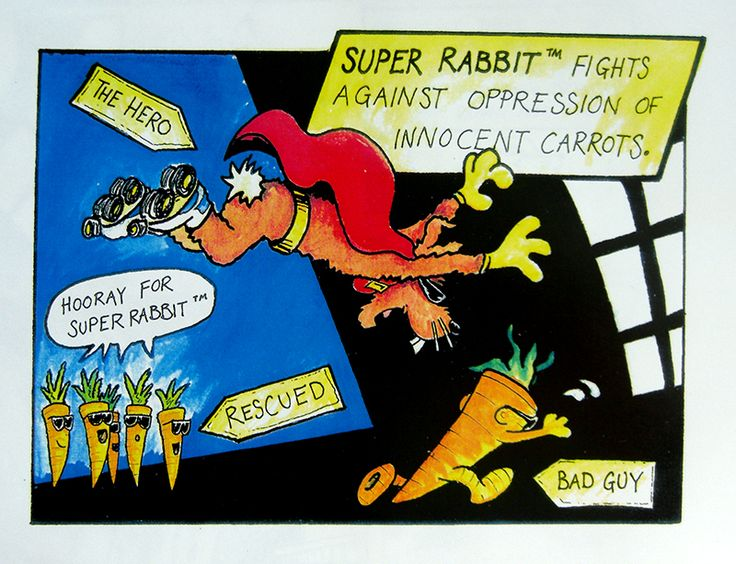 More Super Rabbit(TM) work - Bill Watterson was a huge influence!