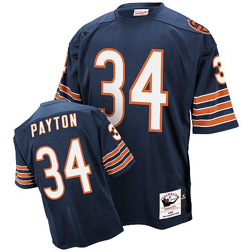 jersey nfl mitchell and ness chicago bears 34 walter payton blue authentic throwback jersey109.99