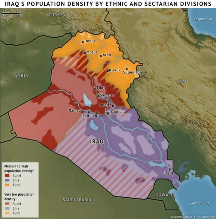 Iraq Geography Favors the Islamic State 84