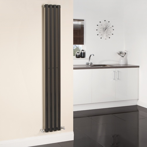 Make an interesting feature of your designer radiator in the kitchen.