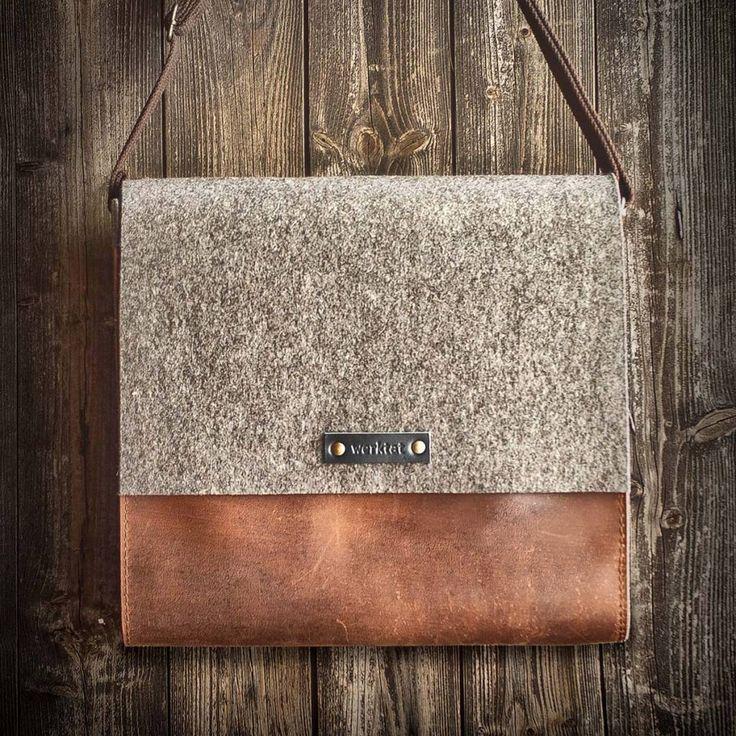 werktat Messenger Bag, Filz, Leder rot-braun, Umhängetasche, Filztasche…                                                                                                                                                                                 Mehr