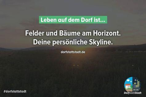Felder und Bäume am Horizont. Deine persönliche Skyline.