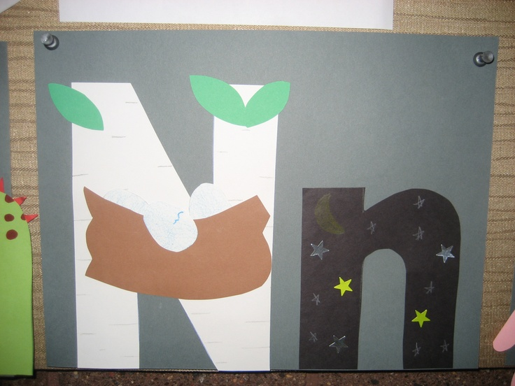 """""""Nn"""" Letter of the week art project"""