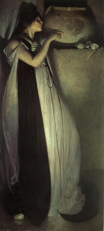 John White Alexander -circa  1897 Isabella and the Pot of Basil.