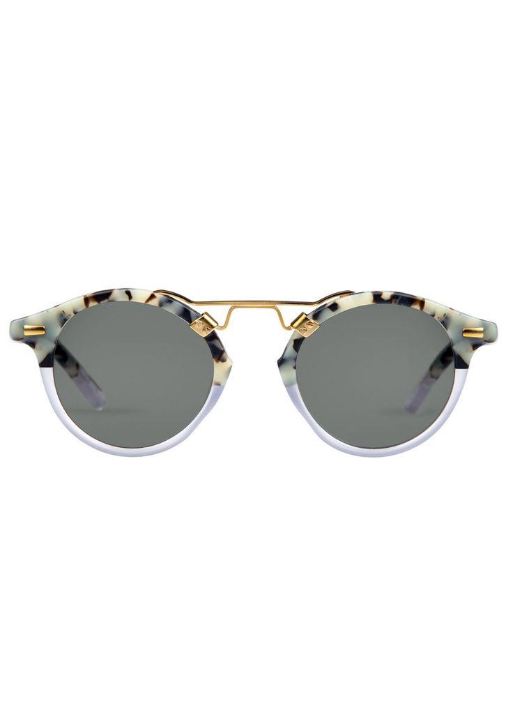 ST. LOUIS | Matte Au Lait to Clear // sunglasses for square face shapes