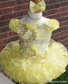 Wholesale Kids Pageant Dresses - Buy 2014 New Glitz Flower Girl/Kids Birthday Toddler Pageant Dresses with Sleeves Stunning Bling Bling, $139.9 | DHgate