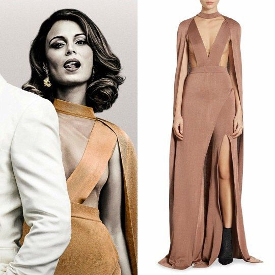 Cristal Flores wears this Balmain cape gown in Dynasty season 1 promo  pictures b5fc00dcb