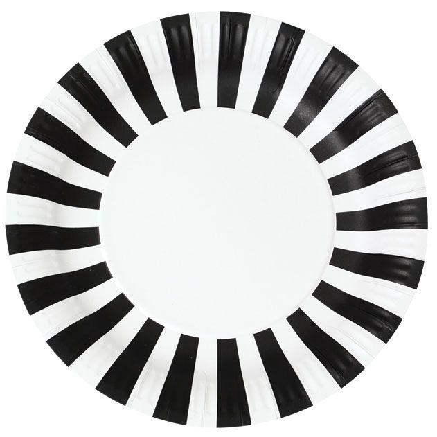 Fridas kalas - Tallrik-svart