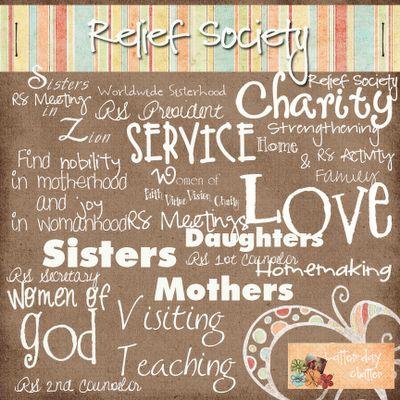 Relief Society Wordart Kit