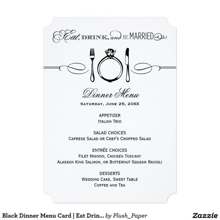 62 best WEDDING MENU CARDS images on Pinterest Wedding menu - formal dinner menu template