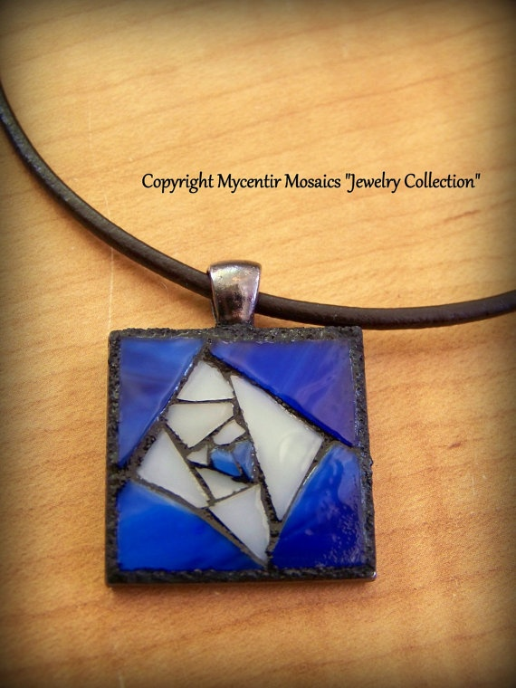 Window to the Soul Stained Glass Pendant by mycentirmosaics, $25.00