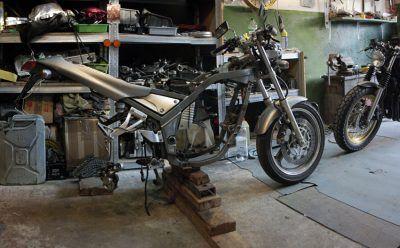Frame naked SRX600 Reborn. Gazzz-garage