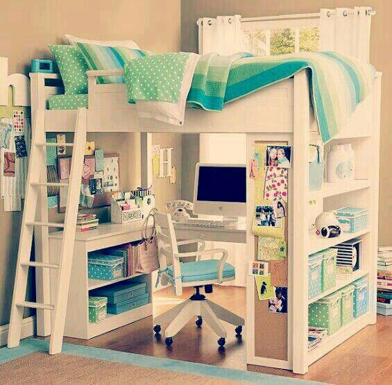 Double Bunk Bed With Desk Woodworking Projects Amp Plans