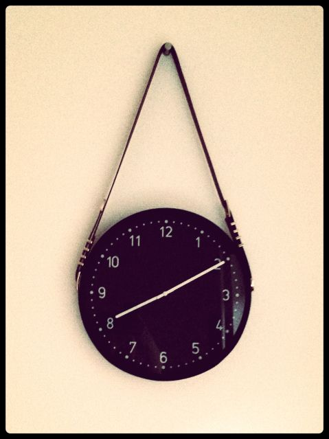 Hanging wall clock, belts, gubi mirror inspired