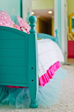 Turquoise Tween Bedroom - Canton, Ga eclectic kids