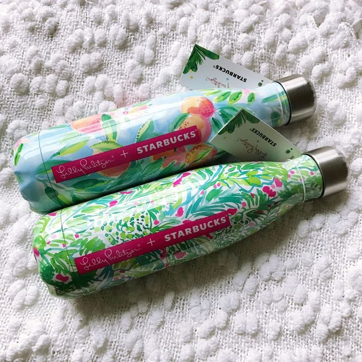 Lilly Pulitzer   Starbucks Limited Edition Set of 2 S'well Bottles  #Swell