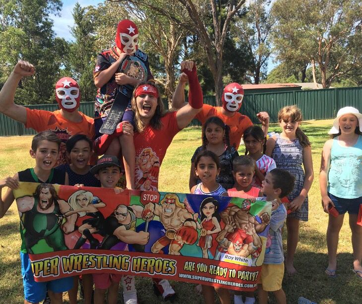Happy 10th Birthday Adam! We hope you and your superstar friends had a SLAMMING Super Wrestling Heroes Birthday Party! Thanks for letting us be a part of your special day!  To have the Super Wrestling Heroes be a part of your son or daughters next birthday party or special occasion visit www.superwrestlingheroes.com.au  ARE YOU READY TO PARTY?! #superwrestlingheroes #wrestlingparty #bargo #turning10 #kidsentertainment