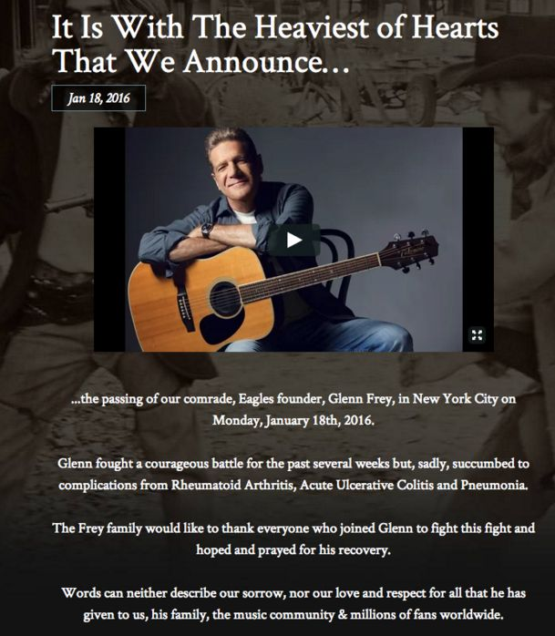 The band's publicist posted this flier on the Eagles' website Monday.