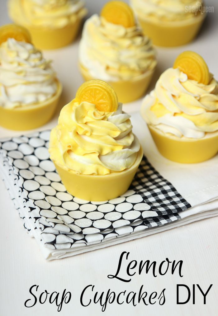 Lemon Soap Cupcakes DIY                                                       …