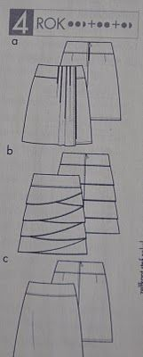 A-lijn rok patroon knip mode 6/2010