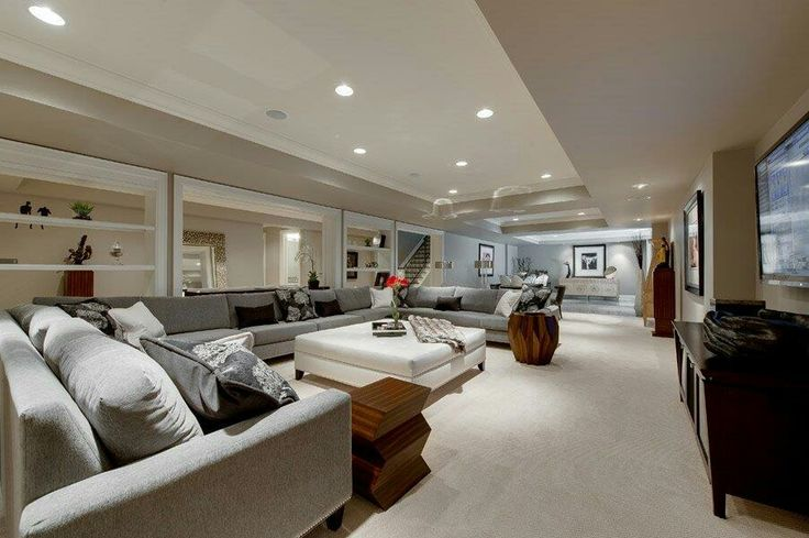 one big open space basement | basement living spaces | pinterest