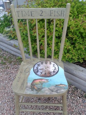 Re Purposed Vintage Fishing Chair – Kimber Creations