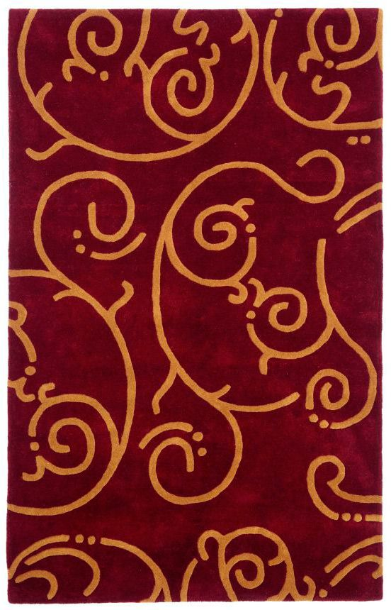 St. Croix Trading Structure Archer Burgundy Rug