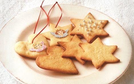Sæt glasbilleder på de små fine kager og hæng dem på juletræet.