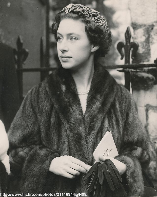 Princess Margaret as Godmother:  DATE:February 23 1954 D:Princess Margaret was Godmother to Sarah Charlotte,the baby daughter of Mr. and Mrs.John Lowther ,at St.Michael`s,Chester Square.Mrs Lowther is the former Jennifer Bevan,lady-in-waiting to the Princess /original photo