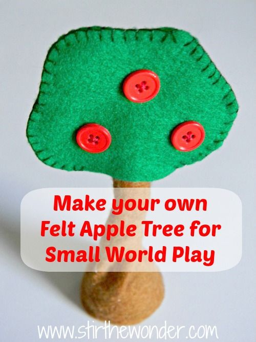 Make your kids Felt Apple Trees for Small World Play
