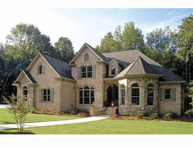 French Country House Plan with 3618 Square Feet and 5 Bedrooms from Dream Home Source | House Plan Code DHSW15681