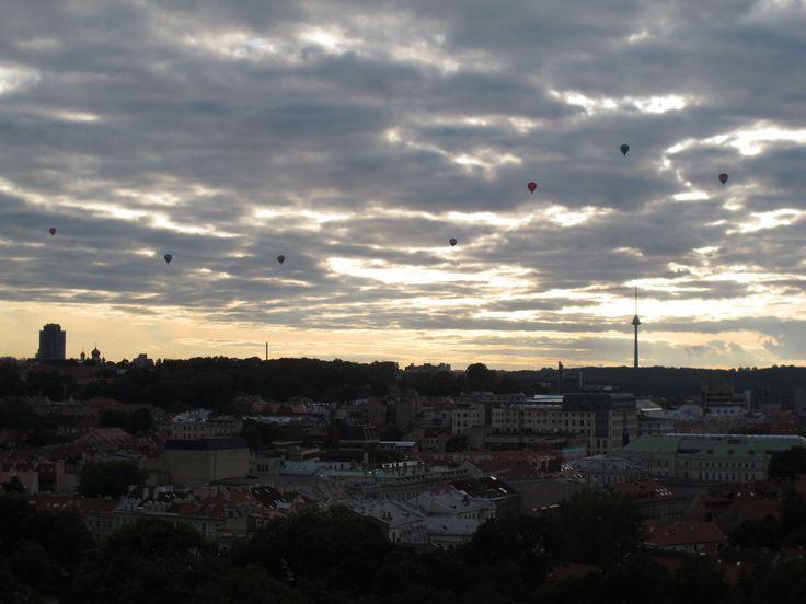 Panorámica de Vilna, Lituania