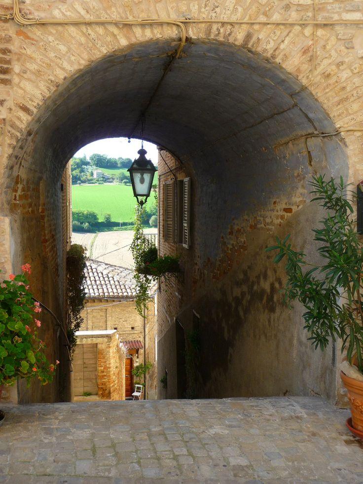 Beuatiful small street Montottone