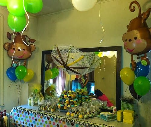 Monkey Theme Baby Shower Baby Shower Jungle Safari Theme Inspirations Pinterest Monkey