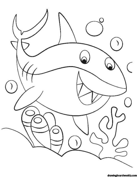 Baby Shark Coloring Page Shark Coloring Pages Baby Coloring Pages Coloring Pages For Kids